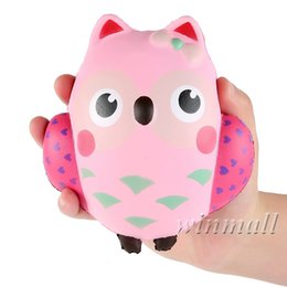 Discount owl toys for kids - 13cm Jumbo Squishy Kawaii Cute Owl Cream Scented Squishies Slow Rising Decompression Squeeze Toys For Kids or Stress Rel