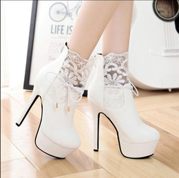 $enCountryForm.capitalKeyWord NZ - New winter ultra fine with sexy lace with short boots round head Martin boots white wedding night club waterproof boots