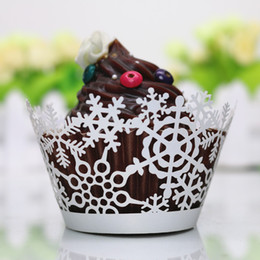 Conception De Boîtes À Coupe Laser Pas Cher-White cupcake box christmas cupcake wrapper floral design coupe laser mini cake box party cupcake accessary