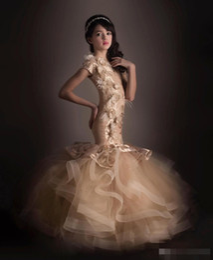 $enCountryForm.capitalKeyWord Canada - 2019 Custom Made Mermaid Flower Girls Dresses Appliques Feather Cute Litter Girls Pageant Gown For Wedding Custom Made Modern Fashion