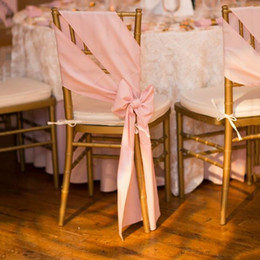 wholesale chair cover sash bows Australia - Elegant Chair Sash Can Be Tied Into Bow Chair Covers For Wedding Satin Custom Made High Quality 2016 Wedding Decorations Factory Sale New