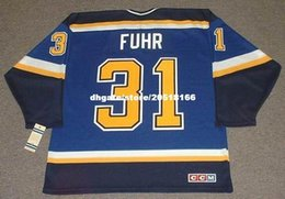 $enCountryForm.capitalKeyWord Australia - custom Mens GRANT FUHR St. Louis Blues 1998 CCM Home Cheap Retro Hockey Jersey
