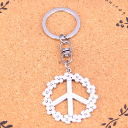 $enCountryForm.capitalKeyWord NZ - New Arrival Novelty Souvenir Metal peace symbol Key Chains Creative Gifts Apple Keychain Key Ring Trinket Car Key Ring