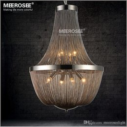 Post Modern French Chain Chandelier Pendant Light Fixture Empire Vintage Hanging Suspension Lustre Lamp For Living Room