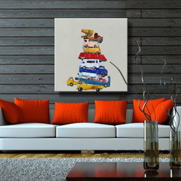 Oil Paintings Landscapes Still Lifes Canada - Hand painted canvas oil paintings still life toy cars picture wall Art for home decoration modern oil painting no frame