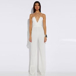 Barato Grossista-Wholesale- Lady Sexy Sleeveless Bodycon Clubwear Evening Party Jumpsuit Romper Trousers
