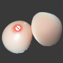 Forme De Boob Pas Cher-Natural Forme Departly Red Nipple Silicone Seins Pistons Prothèse Artifial Seins Crossdresser Shemale Lady Boy Utilisateur