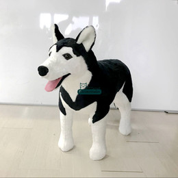 hot doll dogs NZ - Dorimytrader Hot Giant Emulational Dog Plush Toy Stuffed Realistic Black Husky Doll Decoration Gifts for Children 39inch 100cm DY60975
