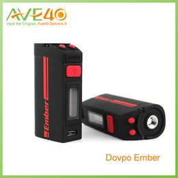 Nautilus miNi vape online shopping - Dovpo Ember W TC Box Mods Power Bypass Ni200 Ti Ss316 OLED Screen Vape Mods for Nautilus Mini X Serpent Mini Goblin Mini