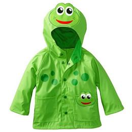 Chinese  Boy Girl Children Kids Raincoat Rain Coat Rainwear Rain Suit Poncho Cape Hooded Enhanced Radiance Frog Rain Slicker manufacturers