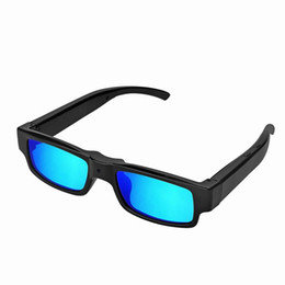 SunglaSSeS digital online shopping - New Fashion Colorful HD P Sunglasses Camera Audio Video Recorder Blue Glasses Mini Camera Digital DVR USB Disk Camcorder