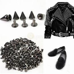 Punk Spike Cono Broches Botones Remaches sujetadores de costura de cuero artesanales Jean 14mm