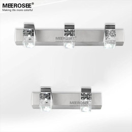 Hot Sale 3 Watt LED Crystal Mirror Wall Sconces Modern Lighting Fixture Clear Light For Bathroom Dressing Room Inexpensive Mirrors