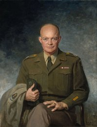oil portrait frames UK - Framed DWIGHT D. EISENHOWER,Pure Handpainted Portrait Art Oil Painting On High Quality Canvas Multi Sizes Free Shipping