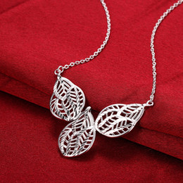 $enCountryForm.capitalKeyWord NZ - Lucky leaves pendants charm beaded Necklaces chokers chains 925 pure silver n757 gifts Christmas Halloween 2016 New Jewelry