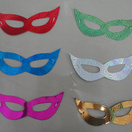 Wholesale black films online shopping - Laser Cardboard Mask Creative Dance Half Face Glyptostrobus Multi Color Eye Vizard Mask Universal Factory Direct Sale jc B R