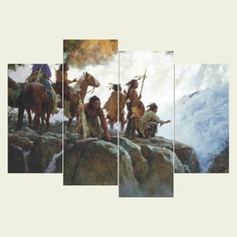 $enCountryForm.capitalKeyWord UK - (No frame) The natives five series HD Canvas print 4 pcs Wall Art Oil Painting Textured Abstract Pictures Decor Living Room Decoration