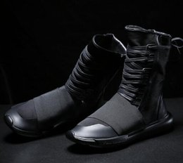y3 black warrior high help men s shoes 2017 new thick day ninja shoes with  casual shoes tide 0921c2bfbd