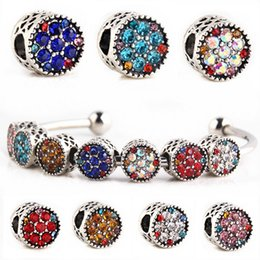 metal s925 2019 - Wholesale S925 Silver Mix Pandora European Big Hole Loose Beads Crystal Rhinestone for Snake safety chain Fit DIY Charm