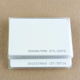 blank smart cards 2019 - 1000pcs lot TK4100 4102  EM 4100 chip RFID 125KHz blank card Thin PVC ID Smart Card