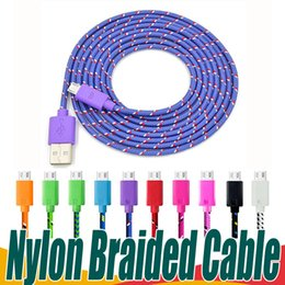 SamSung charger cord 2m online shopping - 1M M M Nylon Braided Phone Cables Micro USB Charger Cable Type C Charging Cord Data Sync Universal For Samsung Type C Android