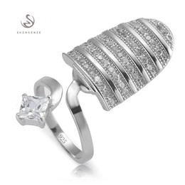 Nail discouNt online shopping - 925 sterling Silver Nail ring S White Cubic Zirconia Best Sellers Recommend Time limited discount Explosion models Promotion