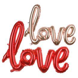 $enCountryForm.capitalKeyWord NZ - Ligatures LOVE Letter Foil Balloon Anniversary Wedding Valentines Party Decoration Balloon Red Champagne