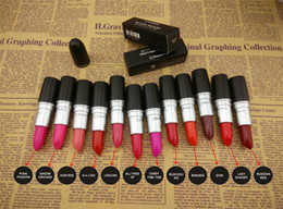 best lipstick names 2019 - Best Matte Makeup Luster Lipstick Frost Lipstick Matte Lipstick 3g 12 colors lipstick with english name 24 pcs lot from
