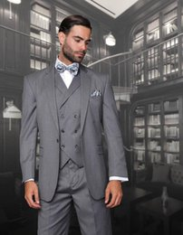 men grey shiny suit Australia - Custom Made Slim Fit Shiny Grey Groom Tuxedos Best Man Wedding Mens Suits Groomsman Wears Formal Evening Party Prom Dress(Jacket+Pant+Vest)
