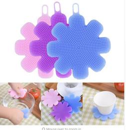 Fashion Brush Wash Plum flower Silicone Dish Washing Fruit Vegetable Dish Scrubber Brush Pulizia della cucina Wash Tool Cleaning Brushes