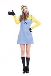 Girls Carnival party dresses Adult Wemon Despicable Me Minions cosplay dress Girls halloween costume outfit wholesale PS038  sc 1 st  DHgate.com & Shop Minion Costumes UK | Minion Costumes free delivery to UK ...