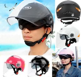 Dual Helmet Half Face NZ - 2016 new SUMMER sunscreen YOHE dual lens Half Face motorcycle helmet ABS motorbike electric bicycle helmets Reflective safety at nigh YH357A