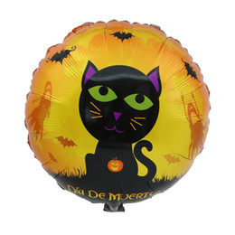 Wholesale black films online shopping - 18 Inch Inflatable Airballoon Cartoon Halloween Aluminum Film Balloon For Home Party Decoration Air Balloons Top Quality hy B R