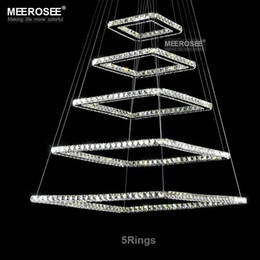 Square Crystal LED Ceiling Light Fixture Squares Crystal Stair Lighting For  Hotel, Hallway, Villa High Quality Crystal Lighting Light Fixtures For High  ...