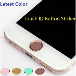 $enCountryForm.capitalKeyWord NZ - Wholesale-500pcs lot DHL Free* Touch ID Metal Aluminum Home Button Sticker for iPhone 6s 6   6s plus 6 plus  5s 5 Finger Identification