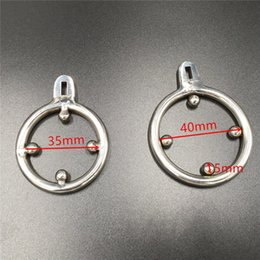 Chastity Ring Sizes Canada - new male chastity devices cock cage spikes ring for chastity cb cage anti-off ring 3 sizes 33mm 35mm 40mm