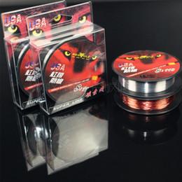 Vente en gros 100M Nylon Fluorocarbon Ligne De Pêche 0.1-0.5mm Fibre De Carbone Leader Lignes Haute Qualité Nouvelle Red Wolf marque