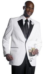 $enCountryForm.capitalKeyWord UK - Custom Made One Button White Groom Tuxedos Notch Lapel Groomsmen Best Man Mens Weddings Prom Dinner Business Suits (Jacket+Pants)