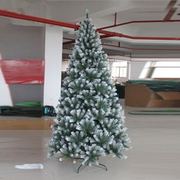 snowing tree christmas decoration canada christmas new year first 21 m 210cm plus white spray