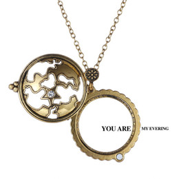 rhinestone glasses chain Australia - Necklace female male map design Restoring star magnifying glass pendant Creative sweater chain necklaces with box necklaces set crystal