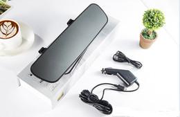 Venta al por mayor de 2.4 pulgadas DVR coche espejo HD 720P cámara del coche Video registrador espejo retrovisor cámara del coche grabadora espejo Blackbox