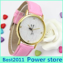 Discount new trendy watches - Geneva Brand New Promotion A Trendy Arrow Printed Watch Ladies Women Dress Watch Fashion Leather WristWatches