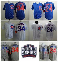 promo code 09700 32975 mens chicago cubs 34 jon lester blue with white pinstripe ...