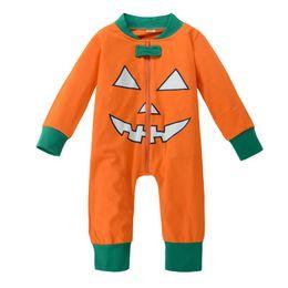 3c077eb2692 Halloween Pumpkin Baby Boys Girl Romper Autumn Long Sleeve Romper Bodysuit  Jumpsuit Outfits Set Newborn Clothes Kids Clothing Boutique