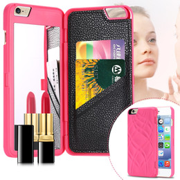 $enCountryForm.capitalKeyWord Canada - iFrogz Charisma Magic Mirror Wallet Case Lady Make Up Flip PU Leather Case for iPhone 6 Plus with Card Slot