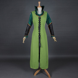Barato Elfo Fantasia Hobbit-Frete Grátis Sexy Women Green The Hobbit 2/3 Elf Tauriel Cosplay Costume Movies The Hobbit Halloween Cosplay Costumes