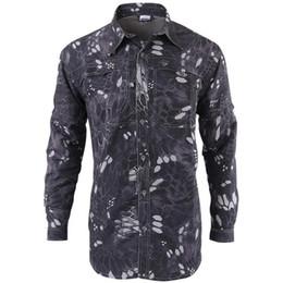 Verano Otoño Marca Tactical Fishing Gear Camisa de secado rápido Hombres Transpirable suave extraíble Camisas largas Divisiones Army Shirt Envío gratis en venta
