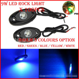 "Wholesale Trailer Lights Australia - 100PCS (50 Pairs) 3"" 9W 3x3W Cre LED Rock Light Off-Road ATV 4x4 Truck Trailer Fender Rig Underbody Puddle Light 800lm White  Red  Blue  G Y"