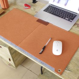 custom computer mouse pads UK - Felt computer table mats, wholesale custom felts computer desk mats, large size mouse pad, desk finishing bag.