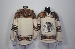 chicago hoodies sweatshirts Australia - Top Quality ! 2017 New Chicago Blackhawks Old Time Hockey Jerseys Blank No Name Number Camo Hoodie Pullover Sweatshirts Sport Winter Jacket